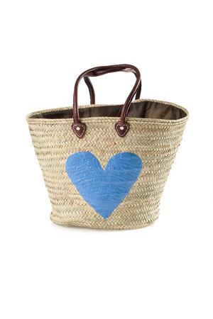 Couleur Locale Shopper 'blauw hart'