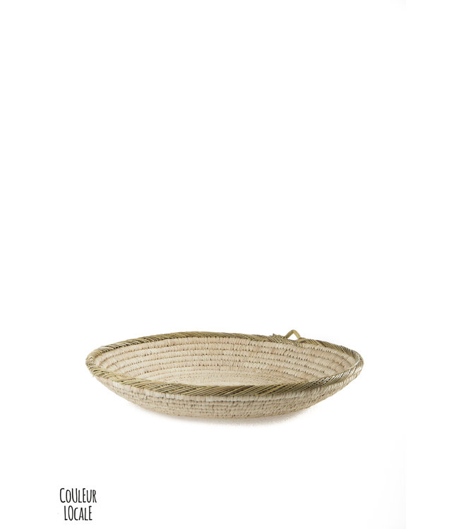 Flat round basket