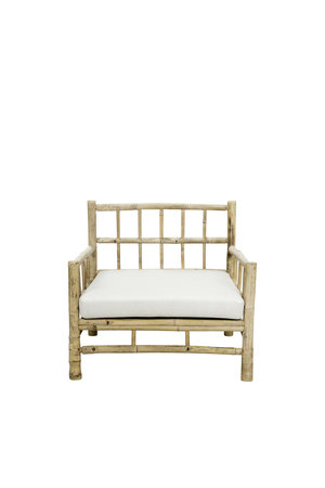 Tine K Home Bamboe lounge stoel met witte matras