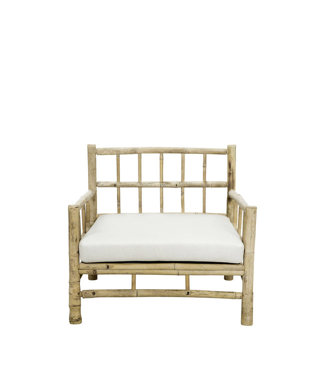 Tine K Home Bamboo lounge chair with white mattress