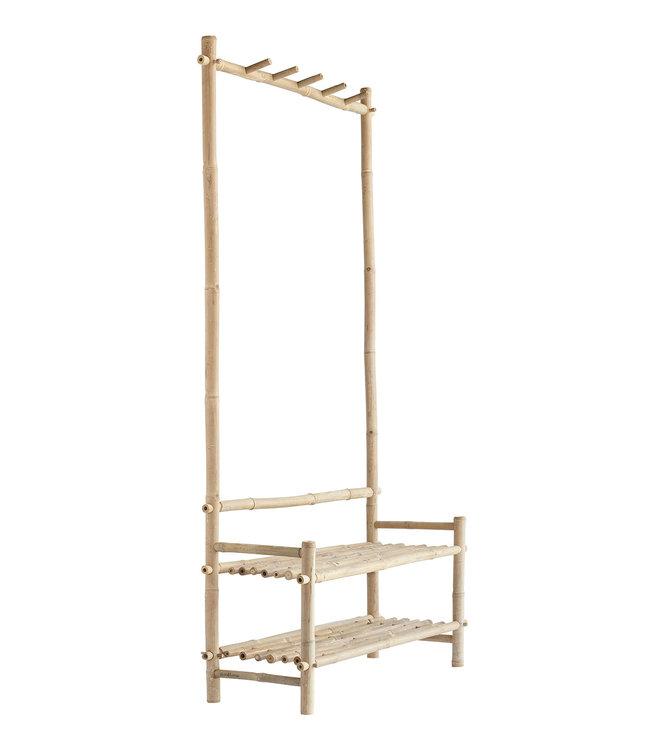 Tine K Home Bamboo wardrobe w. 5 hooks - natural