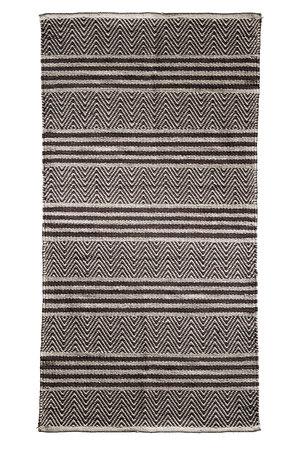 Tine K Home Tapijt met geweven streep patroon