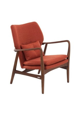 Chair Peggy - fabric smooth rust