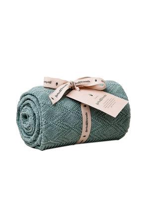 garbo&friends Ollie cotton blanket - teal