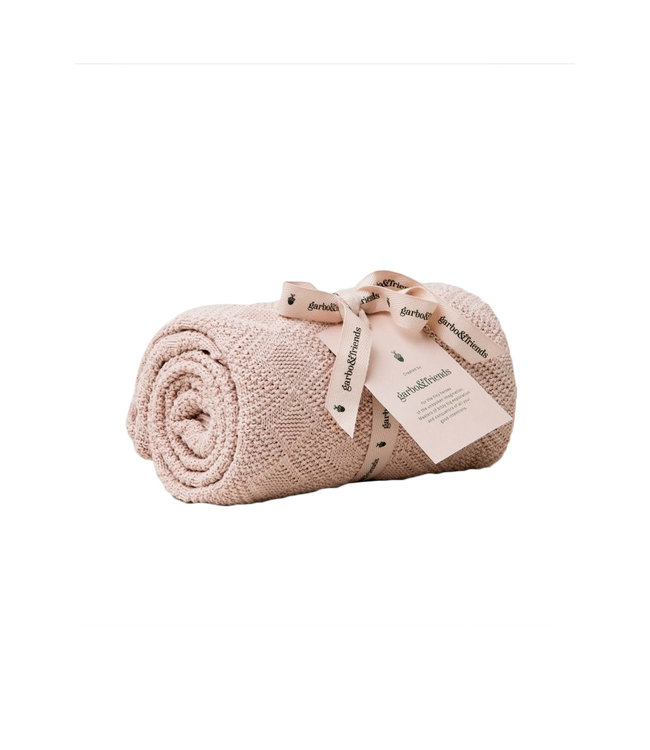 Ollie cotton blanket - pink
