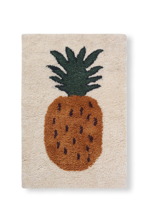 Ferm Living Fruiticana tufted pineapple rug