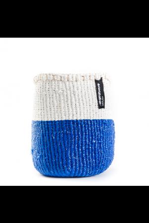 Kiondo basket - 50/50 color blue and white