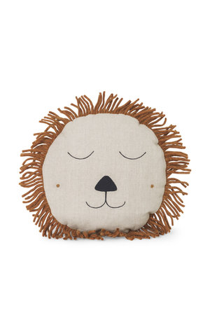 Ferm Living Safari cushion lion - natural