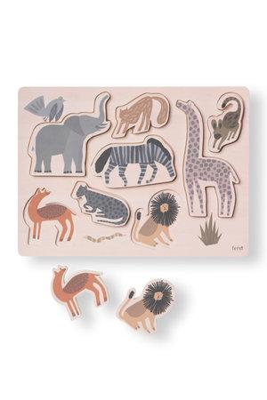 Ferm Living Legpuzzel safari dieren
