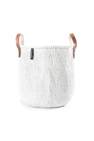 Kiondo mand - one color white with leather straps
