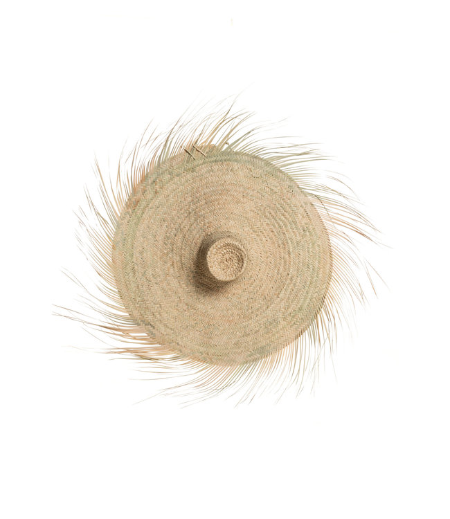 Hat palm leaves with fringes - Morocco