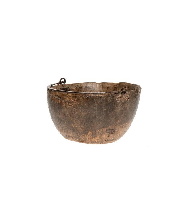 Houten kalebas met handvat - Niger