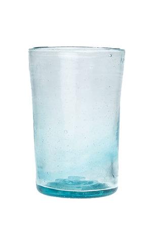 Mondgeblazen klein conisch glas - turquoise