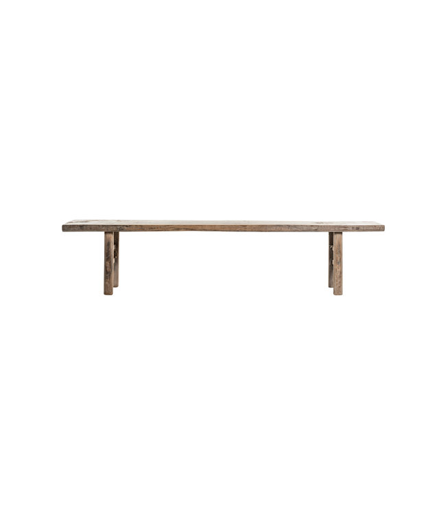 Bench patinated elm wood 224cm