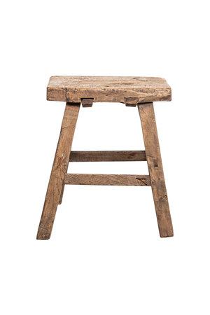 Elm wood antique stool #20