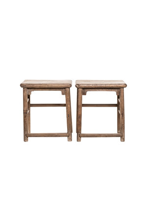 Set bedside tables elm wood