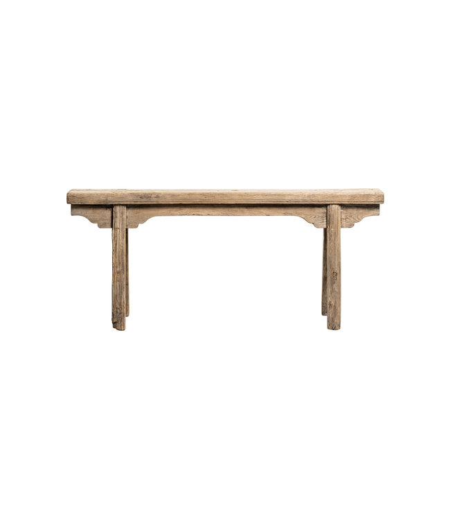Small vintage bench, elm