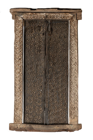 Indonesian antique carved door panel