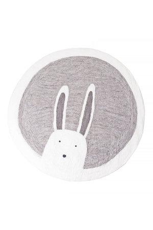 Muskhane Pasu felt rug Bunny - grey