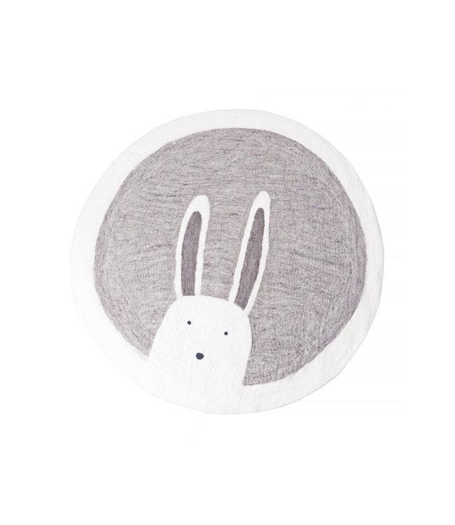 Pasu felt rug Bunny - grey