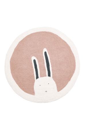 Muskhane Pasu felt rug Bunny - quartz rose