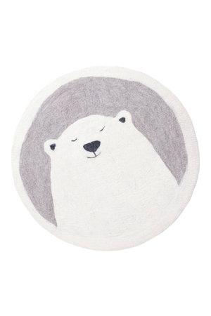 Muskhane Pasu felt rug Grizzly - grey