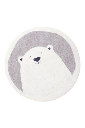 Muskhane Pasu vilten tapijt ijsbeer - pierre clair