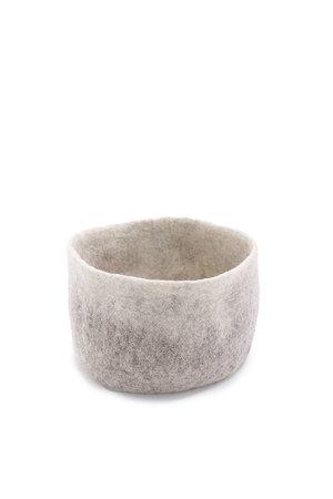 Muskhane Felt basket - grey/natural