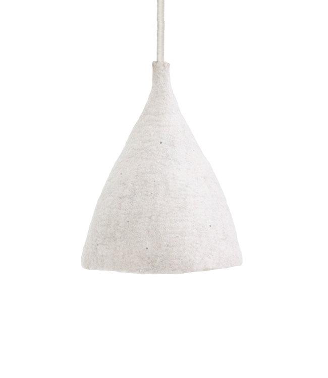 Felt hanging lamp natural/grey