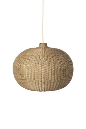Ferm Living Hanglamp 'belly' rotan