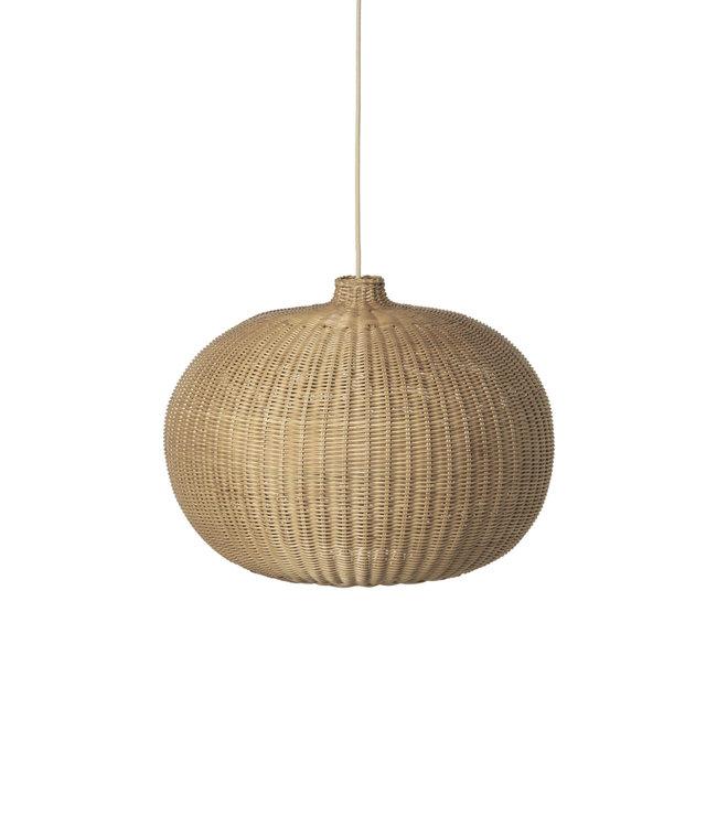 Ferm Living Hanglamp 'belly' rotan