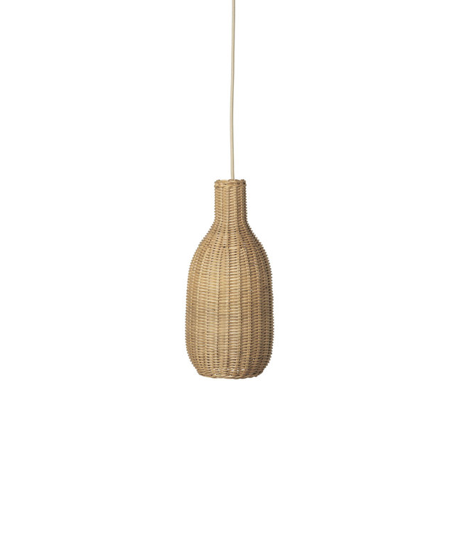 Ferm Living Hanglamp 'fles' rotan