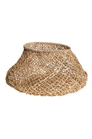 Basket round abaca  - natural