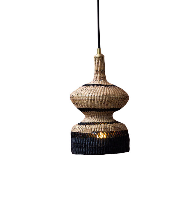 Hanging lamp '2 tier' - natural/midnight