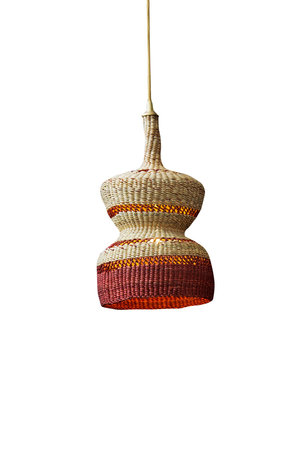 Hanging lamp '2 tier' - natural/ginger