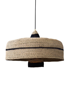 Hanging lamp 'deeply & 3 tier' - natural/midnight