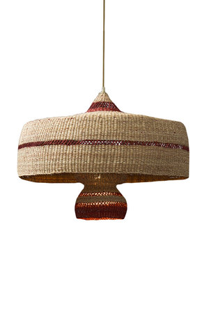 Hanging lamp 'deeply & 3 tier' - natural/ginger