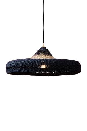 Hanglamp 'hatter' - zwart