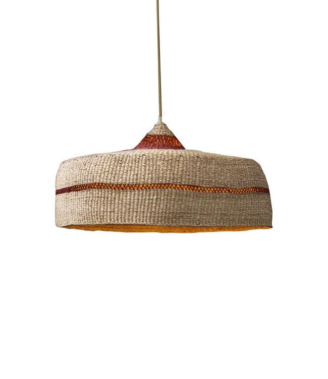 Hanging lamp ' deeply' - natural/ginger
