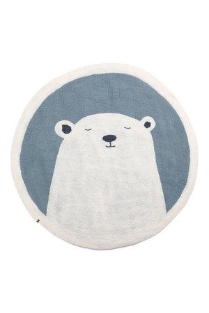 Muskhane Pasu felt rug Grizzly - mineral blue