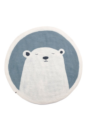 Pasu felt rug Grizzly - mineral blue