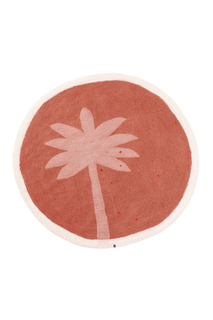 Muskhane Terai felt rug Palm - coral
