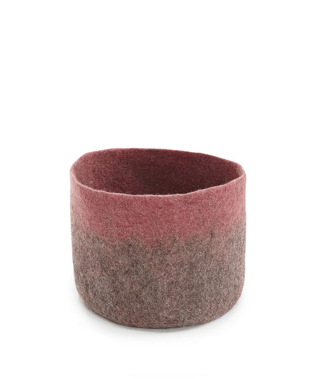 Vilten mand bicolor - pierre/corail