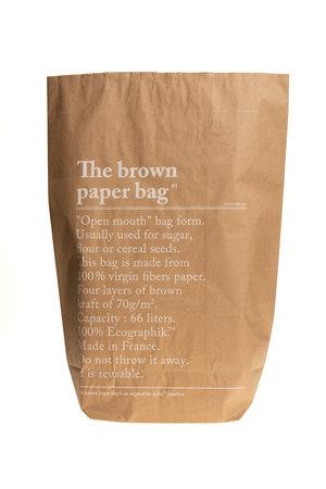 Be-pôles Le sac en kraft brun