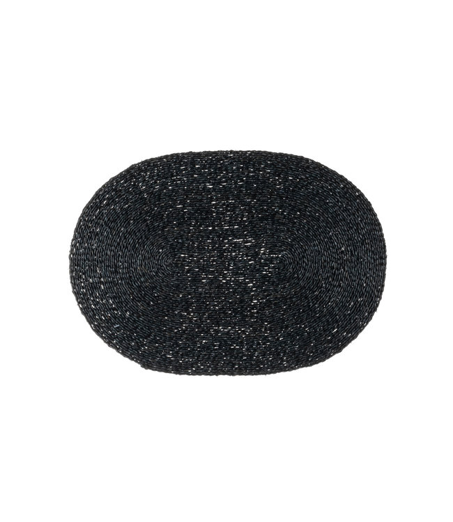 Placemat Swaziland - black oval