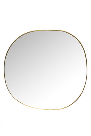 Caravane Hand crimped brass mirror 'Ame'