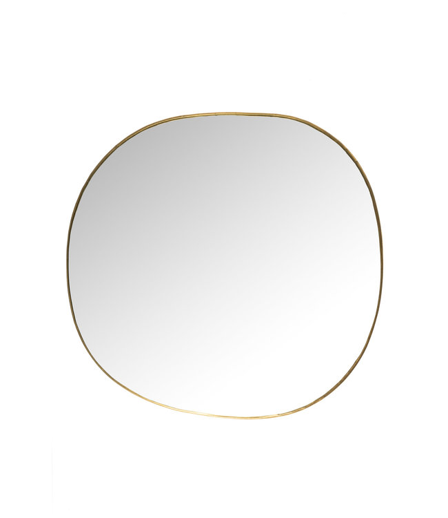 Caravane Hand crimped brass mirror 'Ame'