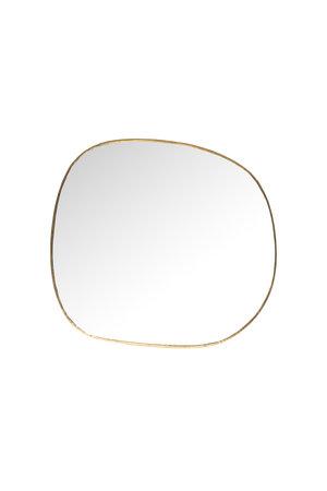 Caravane Hand crimped brass mirror 'Ame', small