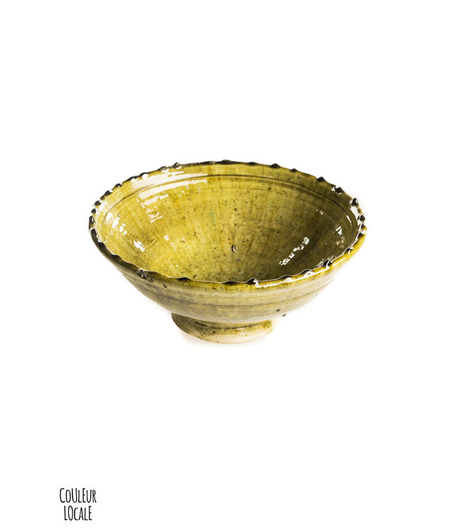 Tamegroute salad bowl - ochre