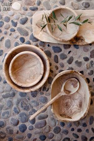 Serveerschaal lang - olijfhout